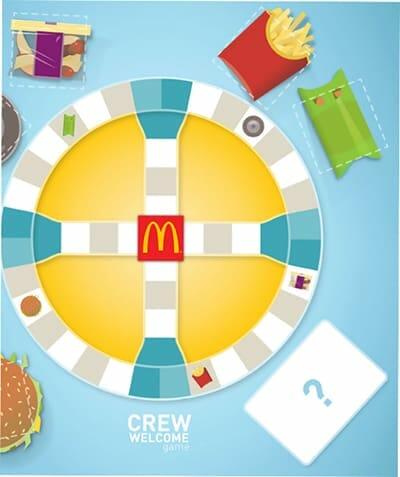 mcdonalds onboarding boardgame