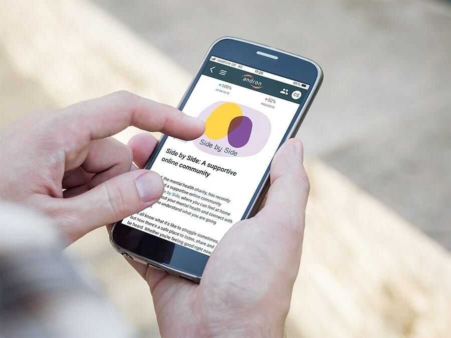 MyAndron app Wellbeing support min