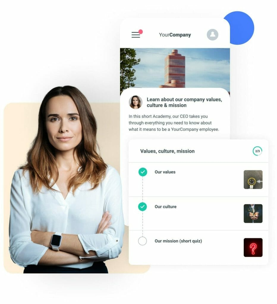 Company Values, Culture and Mission on an Employee App
